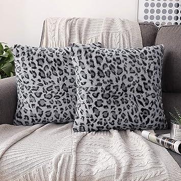 Amazon.com: Phantoscope - Funda de cojín de piel de leopardo ...