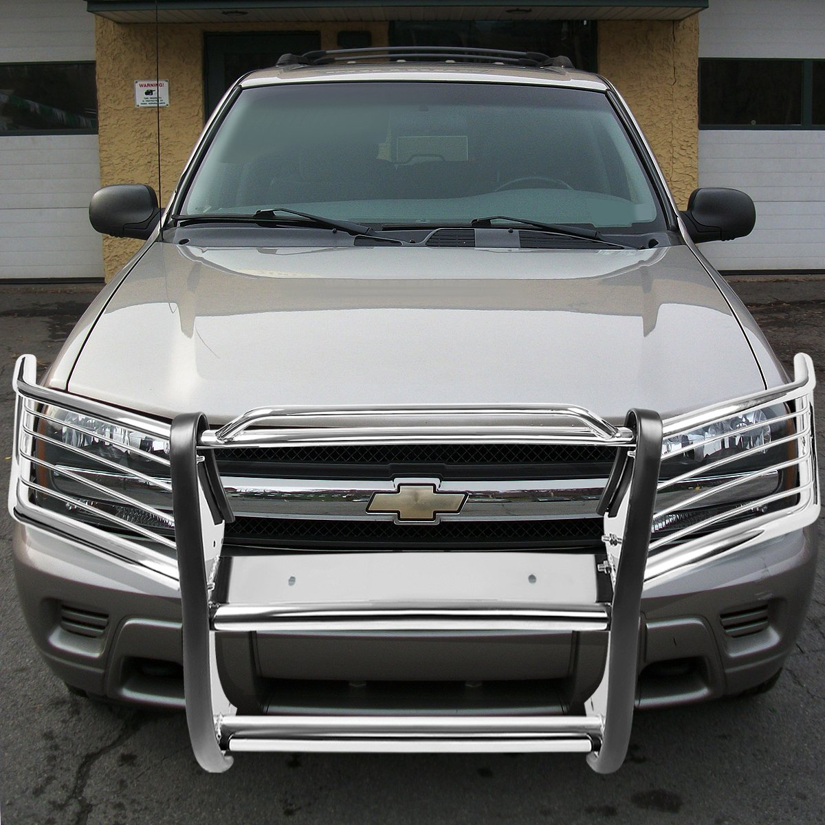 For Chevy Trailblazer EXT Front Bumper Protector Brush Grille Guard Chrome