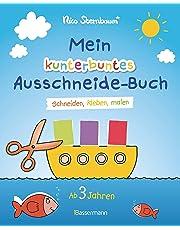 Mein kunterbuntes Ausschneide-Buch: Schneiden, kleben, malen. Ab 3 Jahren