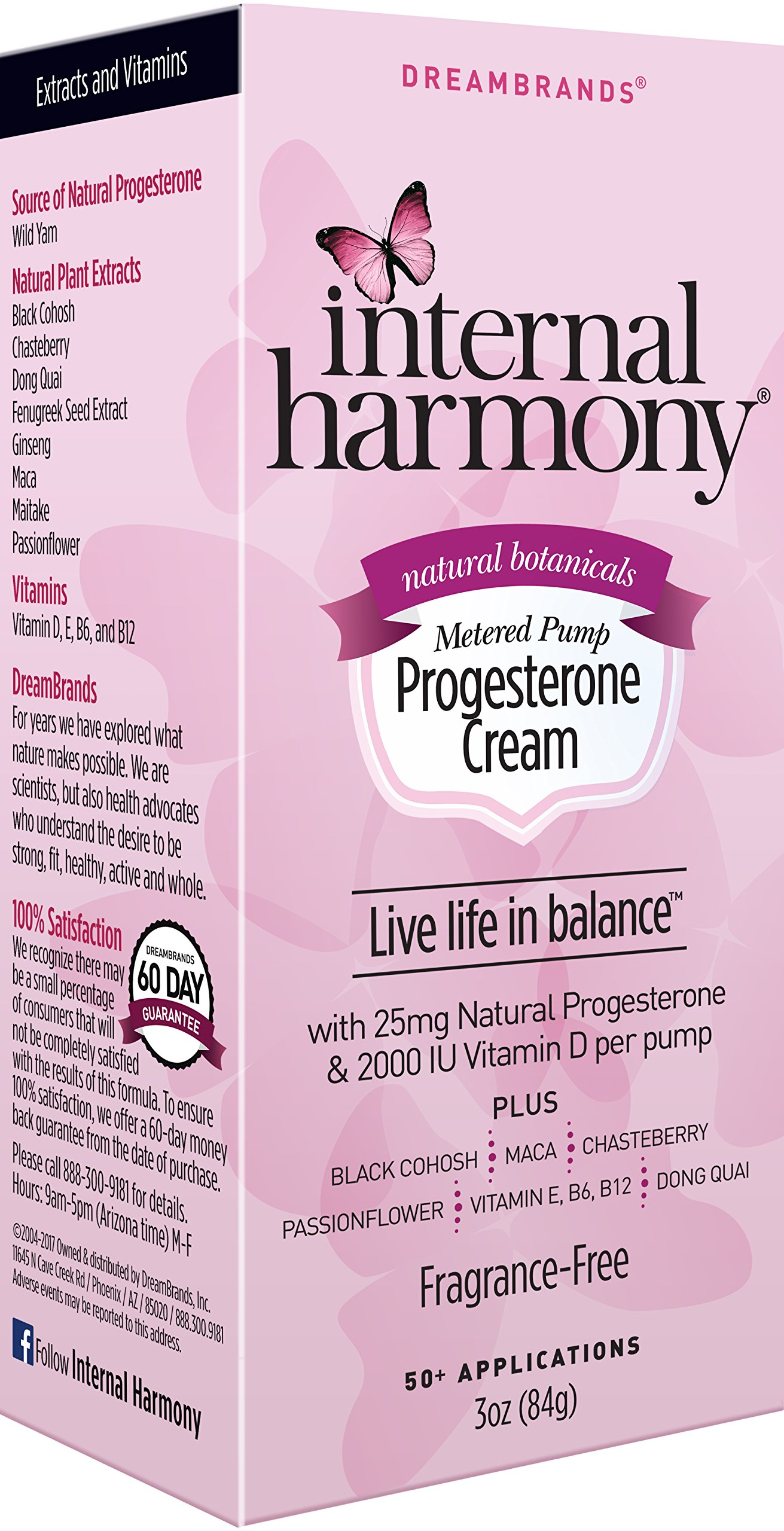 Internal Harmony Natural Progesterone Cream with Vitamin E, B6, B12, and 2000IU Vitamin D