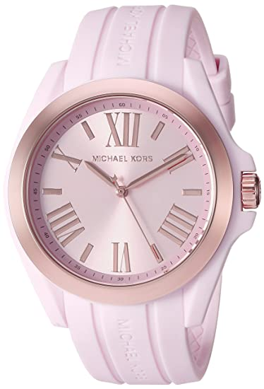 Michael Kors Women's Bradshaw Quartz Silicone Strap, Pink, 0 Casual Watch (Model: MK2732