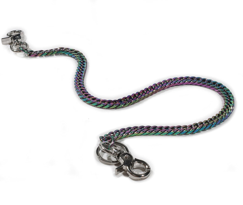 Ruth/&Boaz Angular Chain Stainless Steel Key Chain Wallet Chain