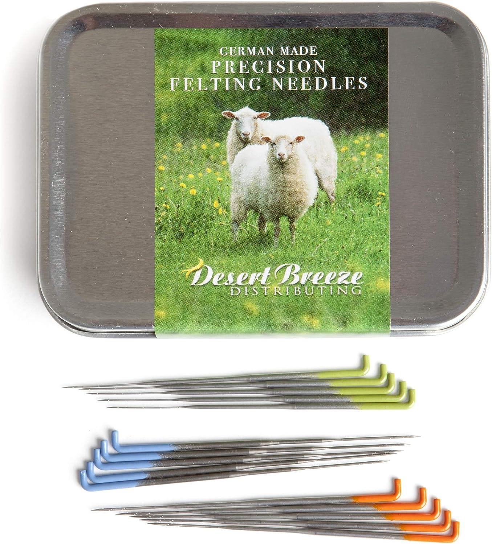 Medium and Coarse Gauge Pack of 3 Assorted Felting Needles Fine