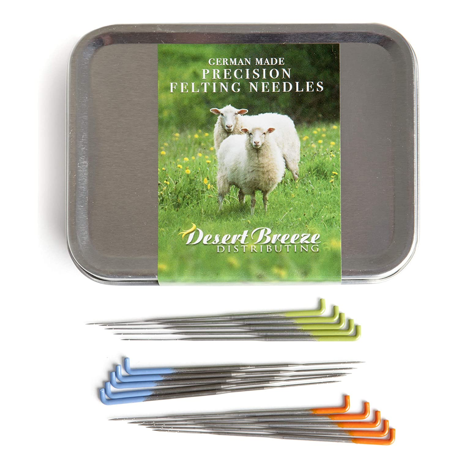 Precision Felting Needles, High Carbon Steel, Color Coded, 36 Gauge Star, 38 Gauge Star, 40 Spiral/Twist, Made by Groz-Beckert of Germany 81SF9UB604L