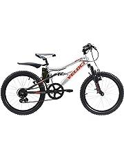 Veloci Bicicleta Infantil Modelo Brave, Doble Suspensión Rodado 20, 7 Velocidades