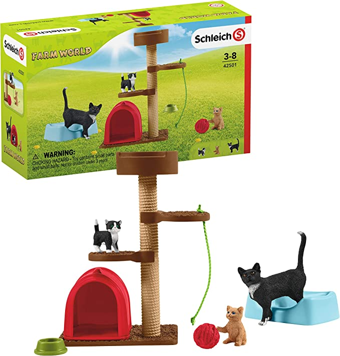 Schleich Farm World Playset - Fun With Cute Cats, Toy from 3 Years, 42501: Amazon.de: Spielzeug