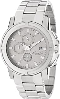 Kenneth Cole New York Mens KC9203 Dress Sport Grey Dial Chronograph Bracelet Watch
