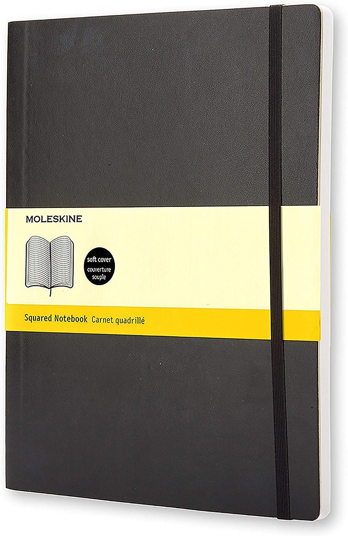 Journal Couverture Souple et Fermeture par Elastique Moleskine Couleur Bleu Saphir Taille Format de Poche 9 x 14 cm 192 Pages Carnet de Notes Classique Papier /à Rayures