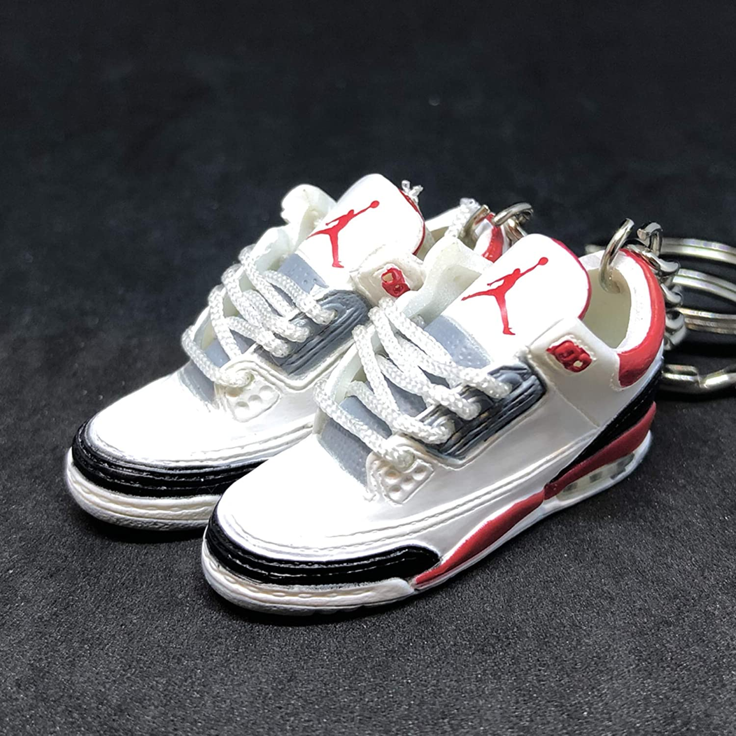 detailed look ab142 72249 Amazon.com : Pair Air jordan III 3 Retro Cement Fire Red ...