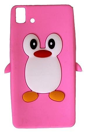 SKS Distribution® rosa silicona pingüino FUNDA / CARCASA / COVER para BQ Aquaris E5