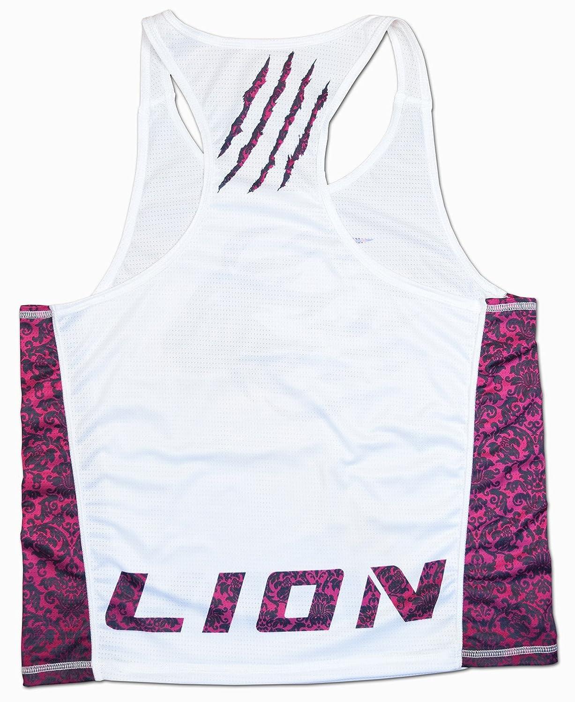 0e4118bfa703c LION PREMIUM TANK TOP FOR WOMAN IN WHITE PINK (M) at Amazon Women s Clothing  store