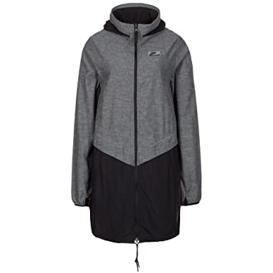 hot sale online 9bf56 106e9 Nike Womens International Full Zip Parka 831685 010 GreyBlack (XS)