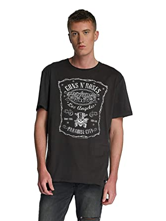 Amplified Guns N Roses-Paradise City, Camiseta para Hombre, Gris (Charcoal CC