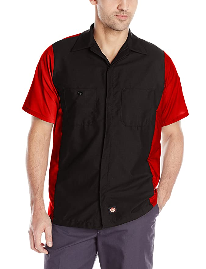1950s Men's Clothing Red Kap Mens Rip-stop Short-sleeve Crew Shirt $24.49 AT vintagedancer.com