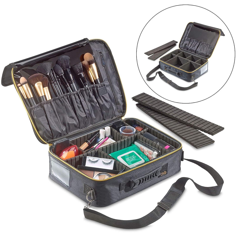 1790 Makeup Travel Organizer - Lightweight Makeup Case Organizer - Electronics Travel Organizer - Adjustable Dividers - Lock-Friendly Zipper - 3 Distinct Sizes (Medium)