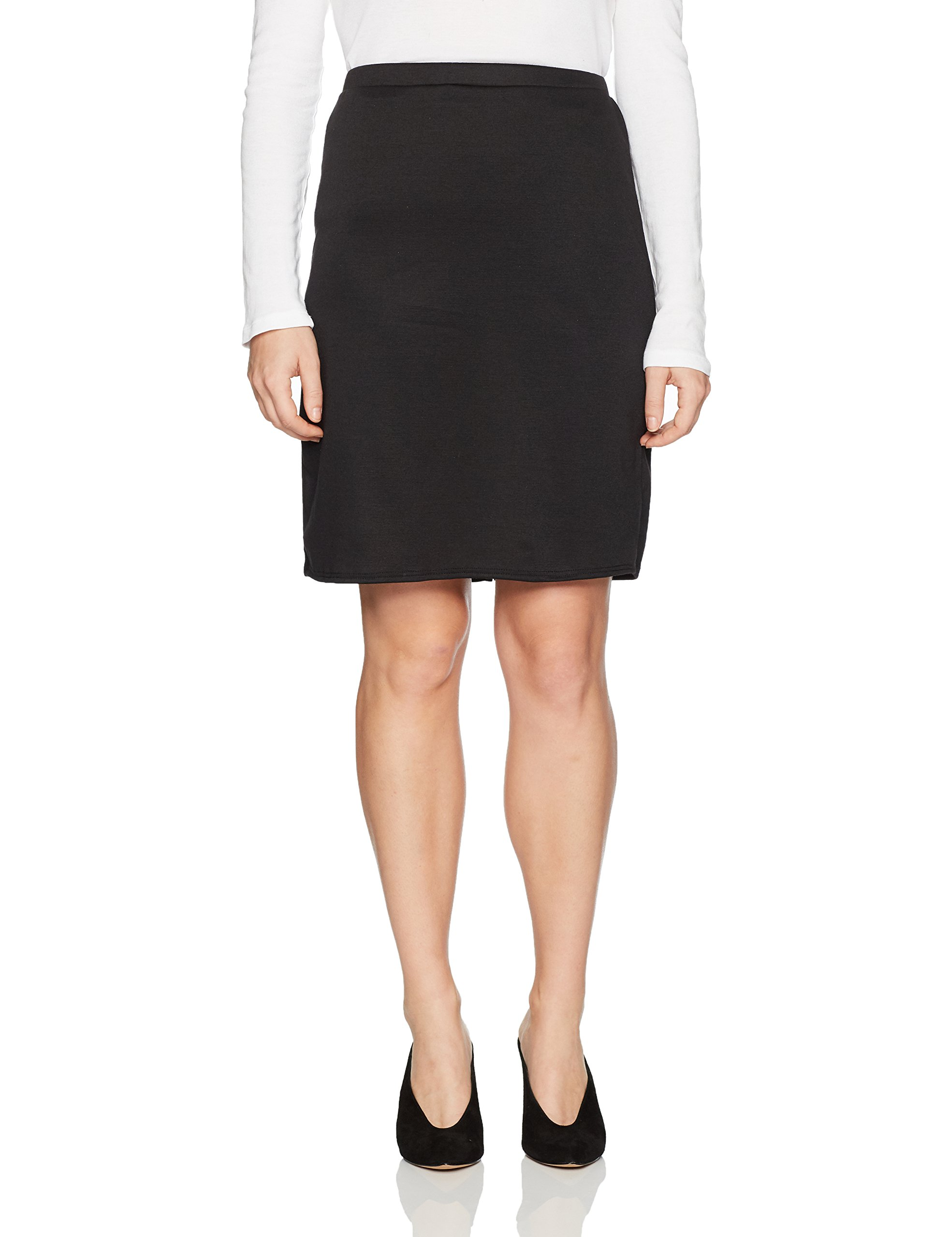Star Vixen Women's Petite Knee Length Classic Stretch Pencil Skirt, Black, PXL by Star Vixen