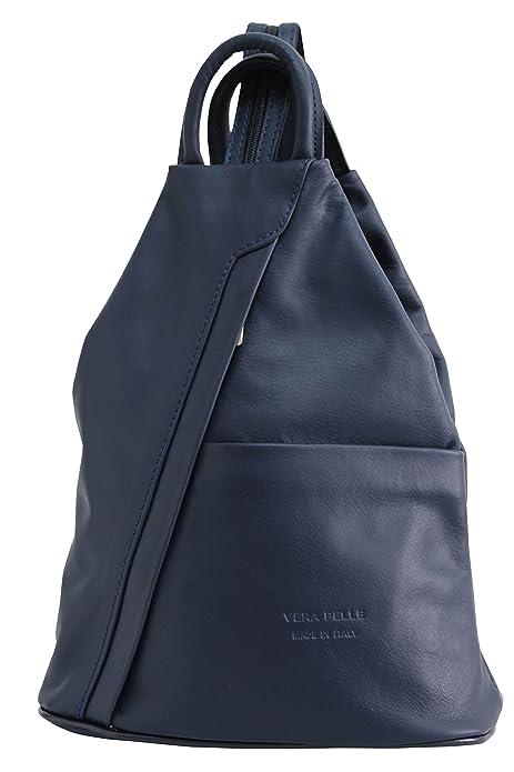 AMBRA Moda - Bolso de Mochila Mujer, color azul, talla One size: Amazon.es: Zapatos y complementos