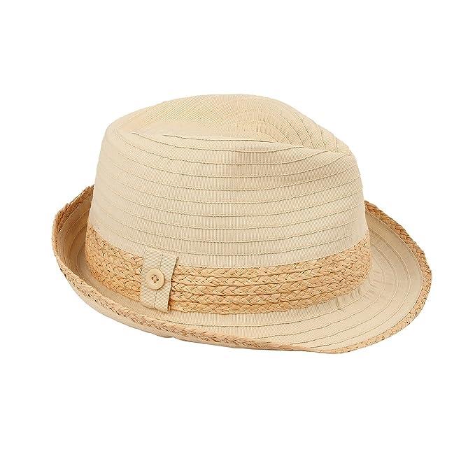 0dd14fc139b AccessHeadwear Sun Styles Havana Ladies Packable Trilby Fedora Hat, Beige