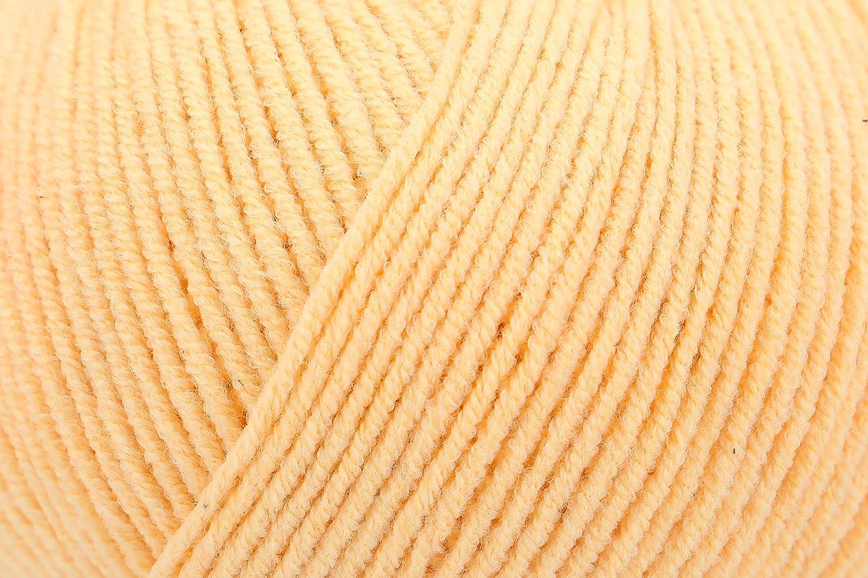 40/% polyacrylique vanille 10 x 8 x 7 cm Schachenmayr 9807371-00120 Fil /à tricoter /à la main 60/% coton