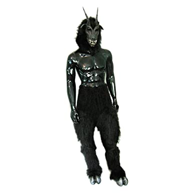 Amazon.com  Zagone Studios Black Goat Devil Mask Legs Hooves Costume   Clothing 66c754985