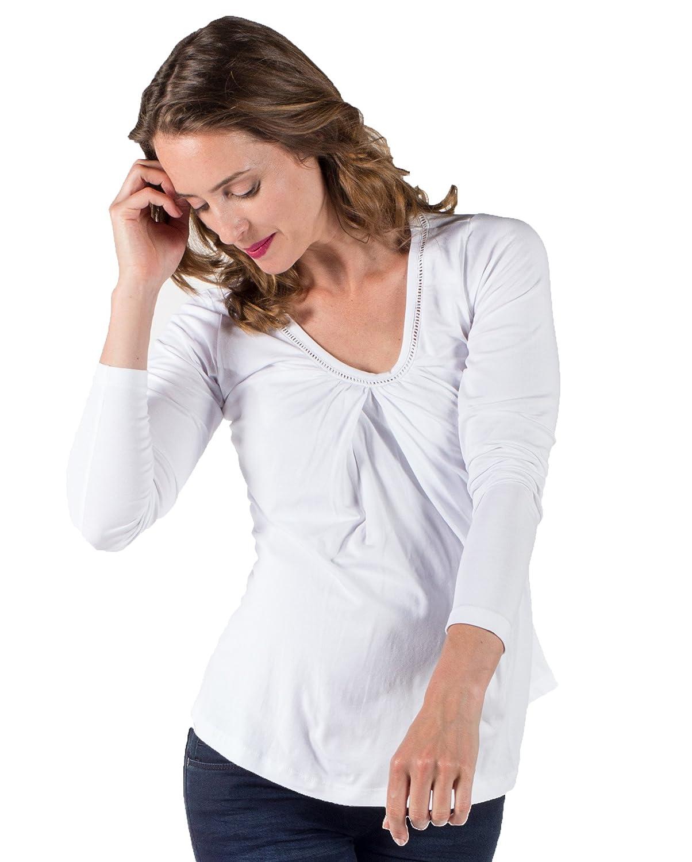 Love2Wait Still-Shirt Tunika Longshirt Umstands-Top Naturfaser Tencel