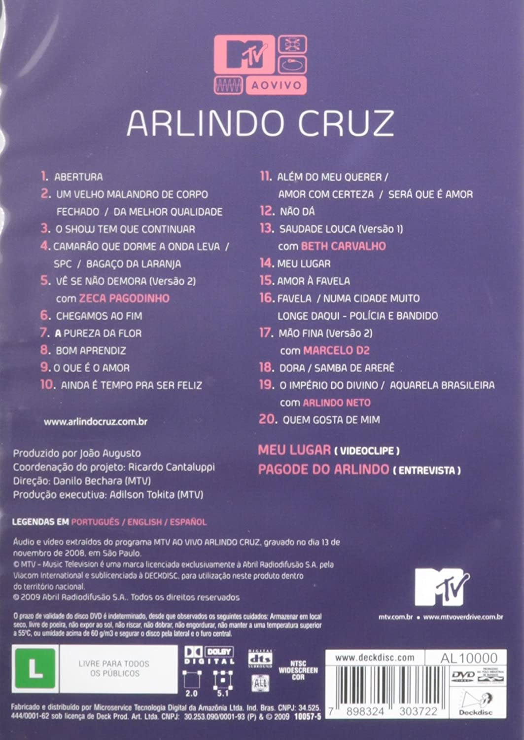 arlindo cruz mtv audio dvd
