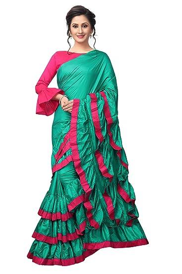 7519596a80 Vastrang Sarees Art Silk Saree (Vs7018Rmpnk_Rama-Pink_): Amazon.in:  Clothing & Accessories