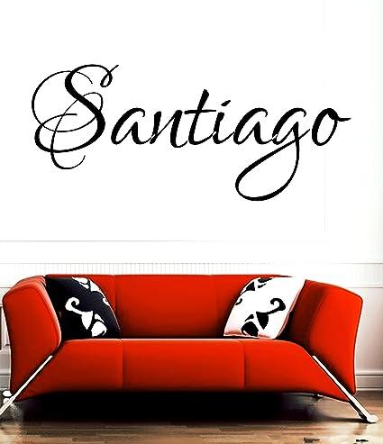 huanyi Santiago sala de nombre de niña o Boy nombre nombre pared cita Arte Vinilo Adhesivo