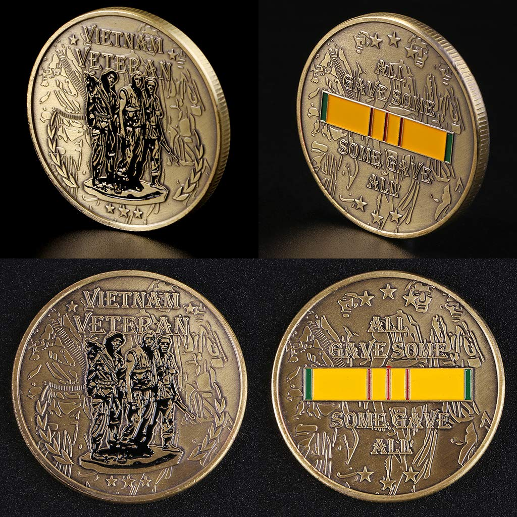 Baoyl Vietnam War veteran Commemorative Coin Collection Suit for Arts,Home Office Decor,Collection,Bussiness Gifts and Commemoration