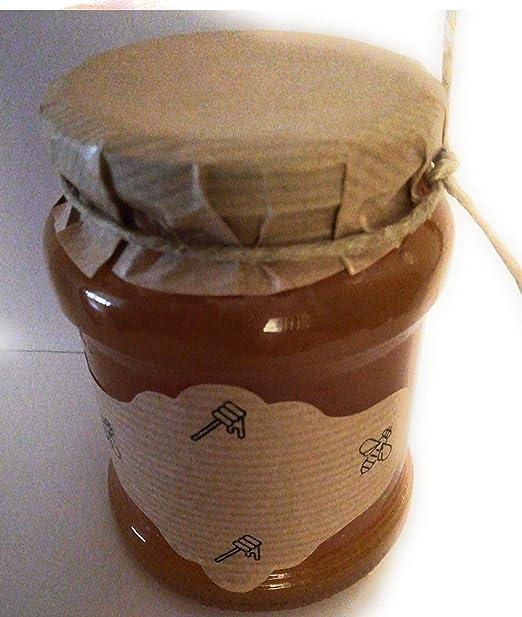 50 Etiquetas adhesivas kraft para botes de miel: Amazon.es: Hogar