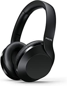 Philips Performance PH802 Wireless Bluetooth Over-Ear Headphones Noise Isolation Stereo with Hi-Res Audio, up to 30 Hours Playtime with Rapid Charge - Black (TAPH802BK)