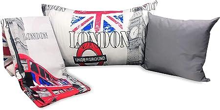 Copripiumino Londra Singolo.Tex Family Copripiumino Londra Inglese Cabina Big Ben Underground