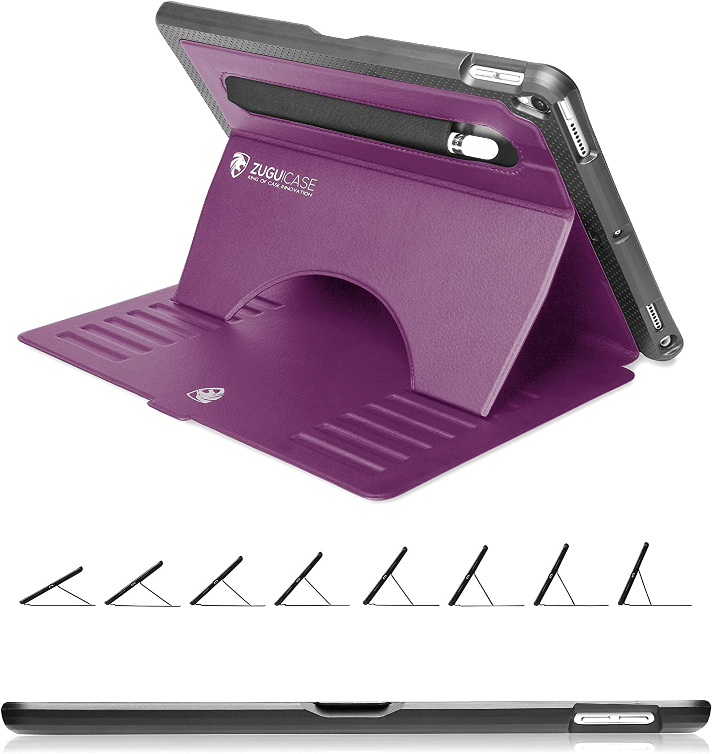 ZUGU CASE - 2019 iPad Air 10.5/2017 iPad Pro 10.5 inch Case Prodigy X - Very Protective But Thin + Convenient Magnetic Stand + Sleep/Wake Cover (Purple)