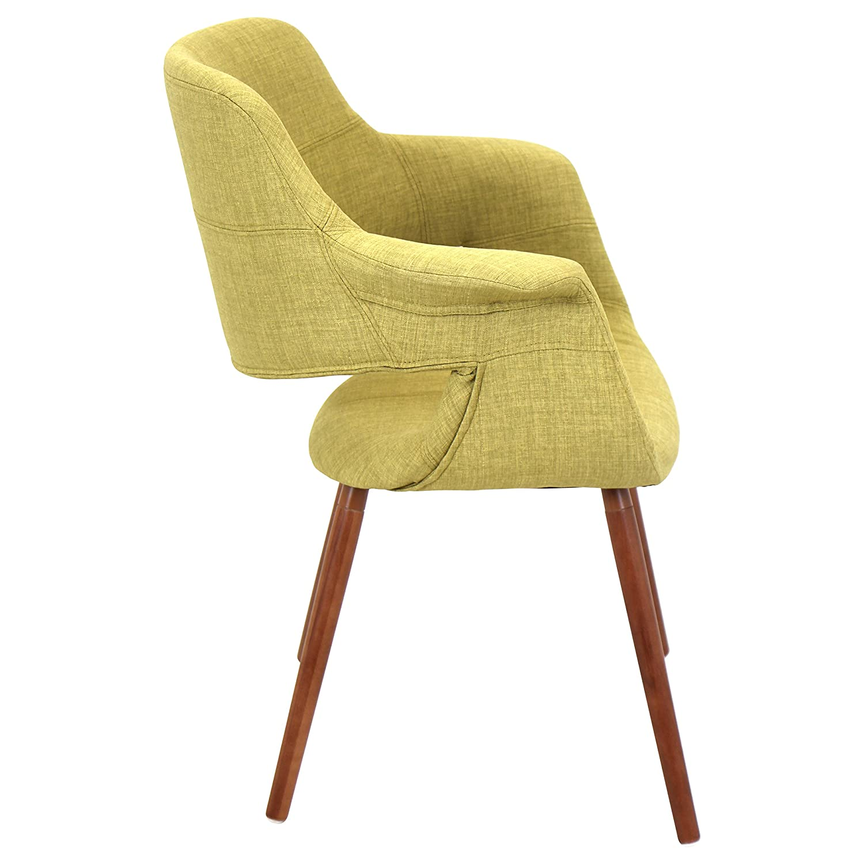 lumisource chrjyvfl gn vintage flair midcentury modern chair in  - lumisource chrjyvfl gn vintage flair midcentury modern chair in walnutwood and green fabric amazonca home  kitchen