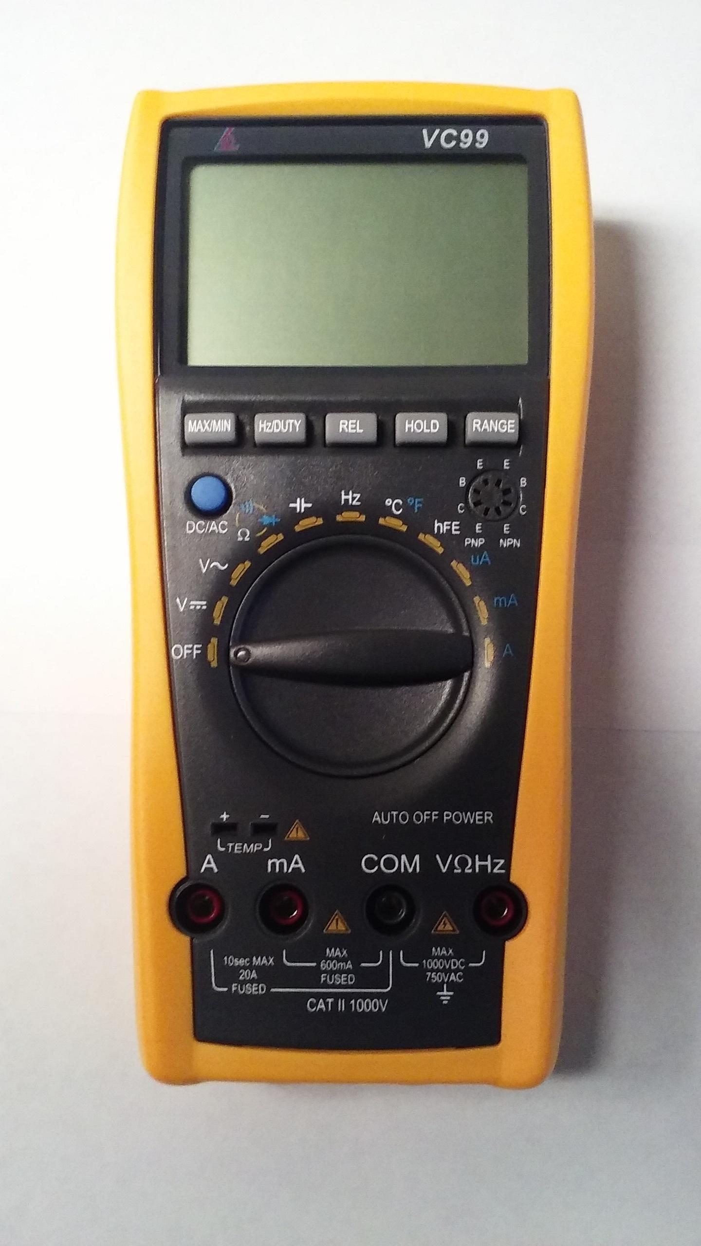 Signstek VC99 3 6/7 LCD Manual Auto Digital Multimeter Tester Volt Ammeter Test Meter Ohm Analog Bar Auto Range