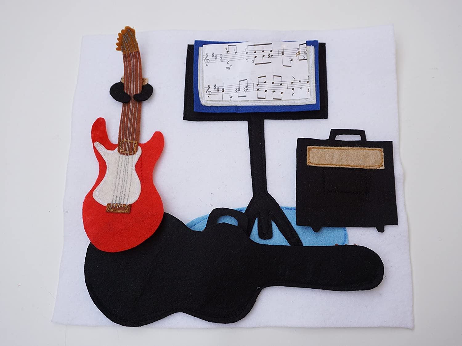 Birthday Gift For Toddler Quiet Book Page Activity Page Soft Activity Page Guitars