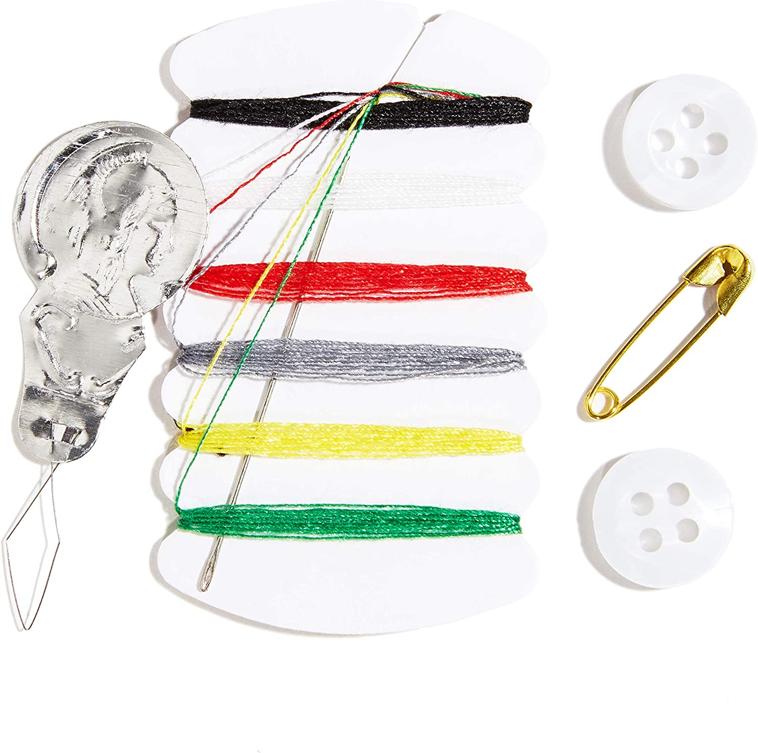 Mini Travel Kit Sewing Kit Buttons Needle /& Thread Pocket Size Pins Handy SALE £