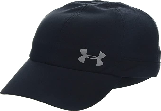 Under Armour UA Fly by Cap Gorra, Mujer, Negro (Black/Silver 001 ...