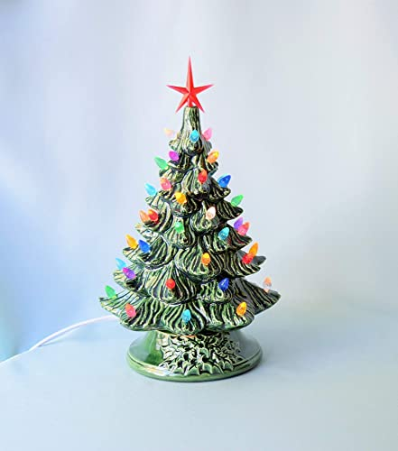 Lighted Ceramic Christmas Tree Handmade