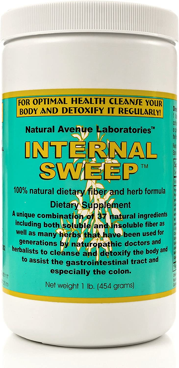 Internal Sweep – Colon Cleanse Detox Fiber powder, a potent blend of 37 herbs used by master herbalists for hundreds of years.
