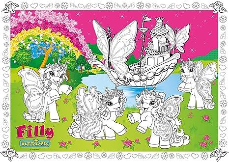 Poster Da Colorare Filly Butterfly Pferdchen Poster Da Colorare