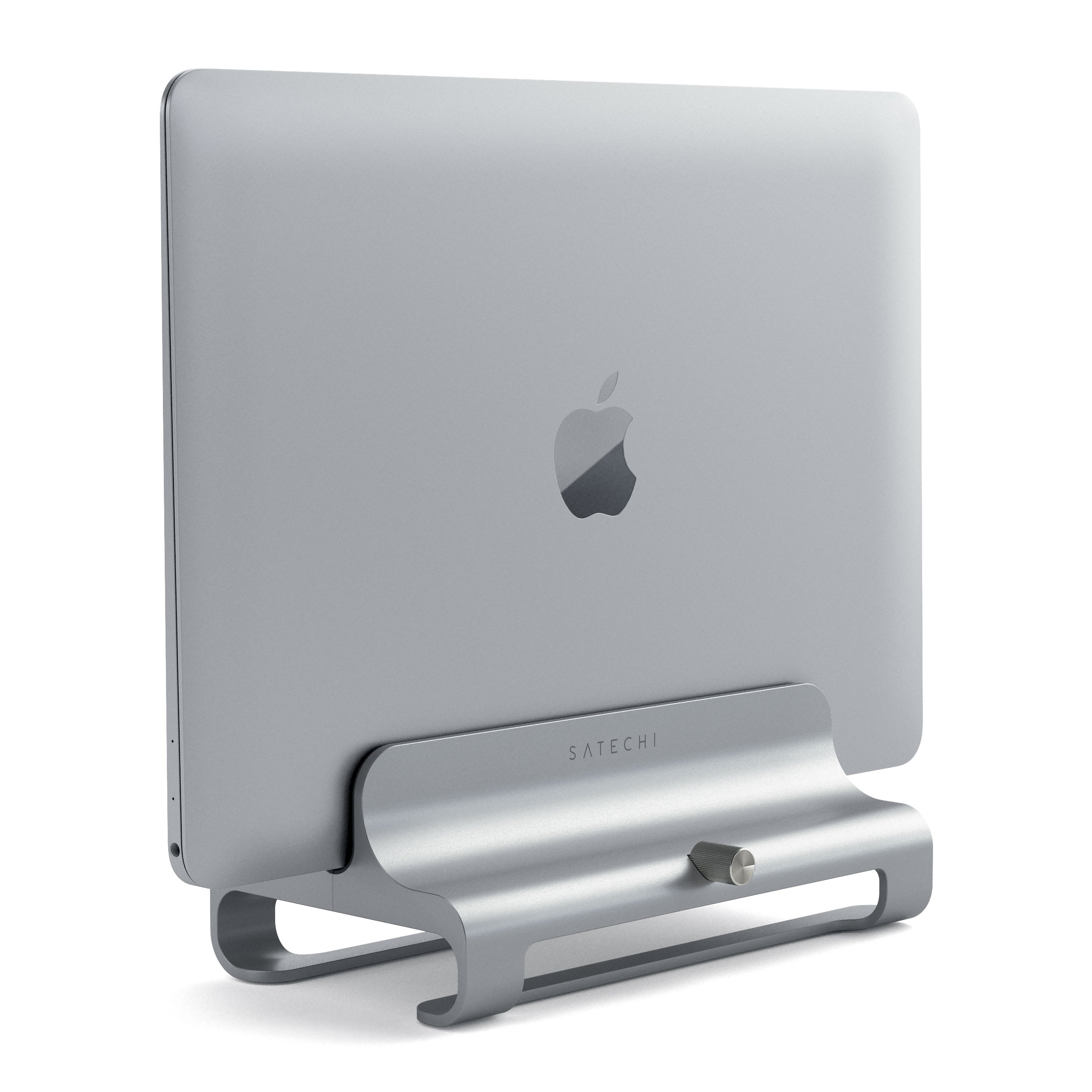 Satechi Universal Vertical Aluminum Laptop Stand for MacBook, MacBook Pro, Dell XPS, Lenovo Yoga, Asus Zenbook, Samsung Notebook and more (Silver)
