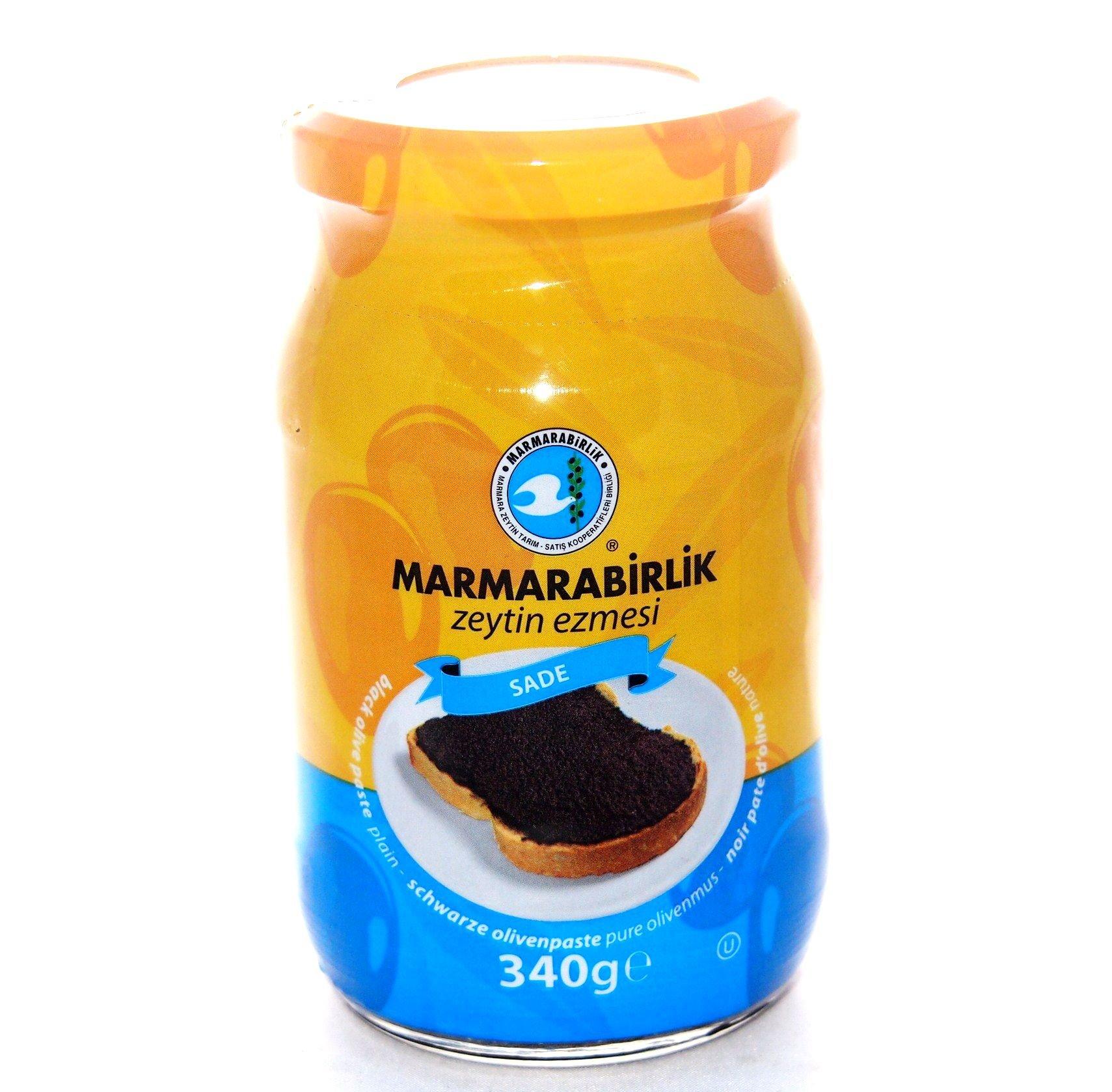 MARMARABIRLIK OLIVE PASTE - PLAIN 340 G / 12 OZ SADE ZEYTIN EZMESI by Marmara Birlik