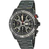 Nautec No Limit - H8 - Montre Homme - Automatique - Chronographe - Chronomètre - Bracelet Acier Inoxydable Noir