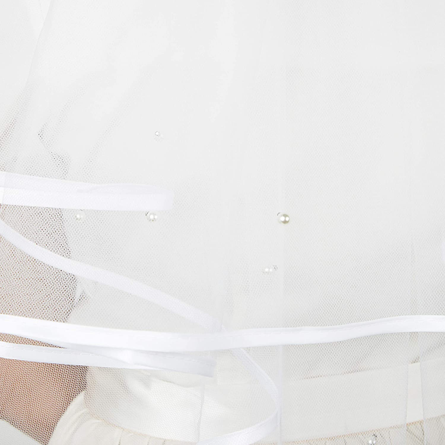 30 In White Bridal Wedding Veil with Crystals 2 Tier Veil for ...
