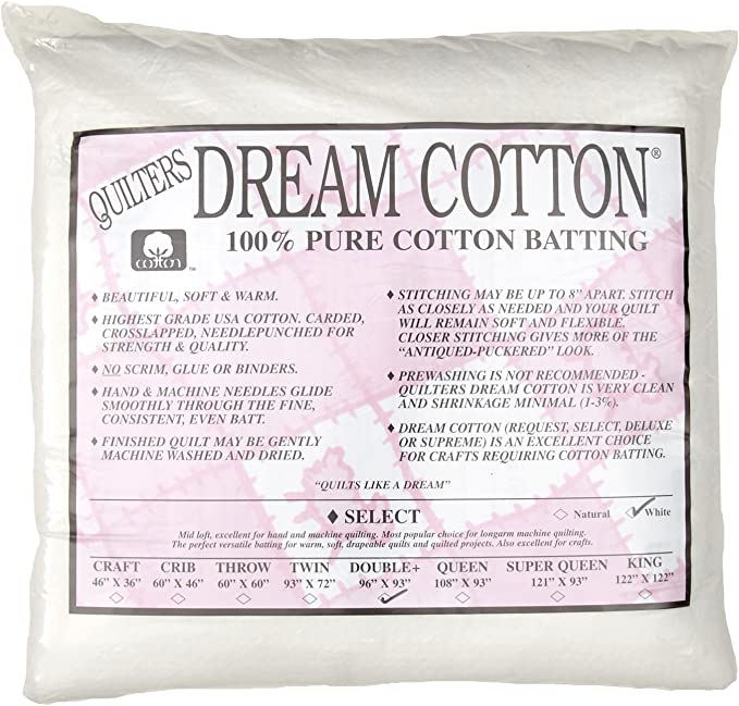 Quilters Dream Select Heavy Mid Loft Batting for Quilting Twin, Natural All Sizes