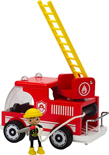 Hape Classic Fire Truck Toddler Wooden Play Set