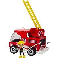 Hape - E3008 - Jeu d'Imitation en Bois - Pompiers - Camion de Pompiers