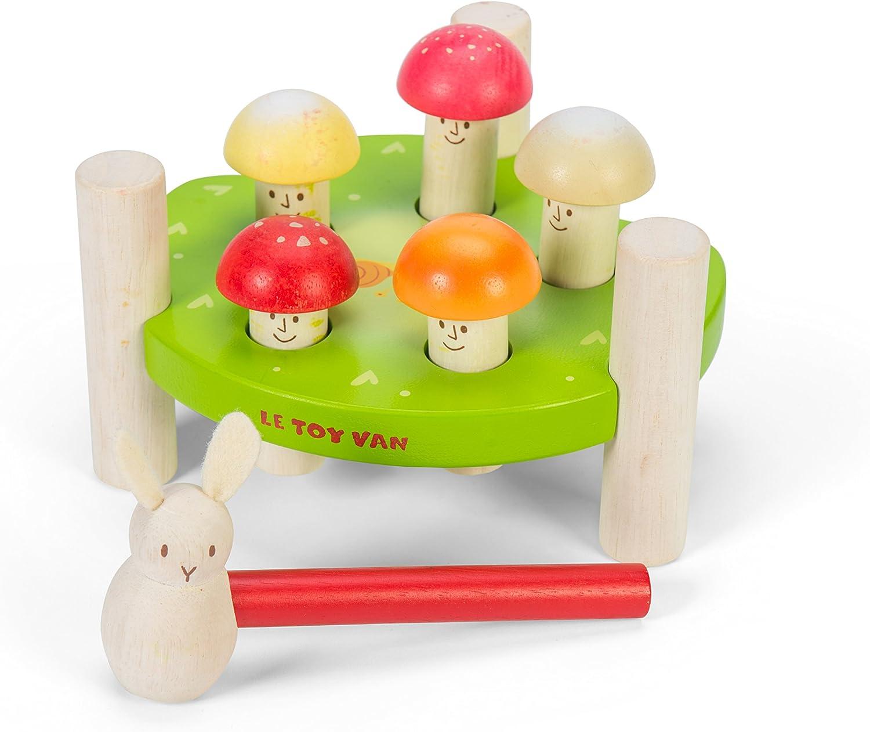 Le Toy Van PL092 Petilou Mr Mushrooms Juego de Martillo: Amazon.es: Juguetes y juegos