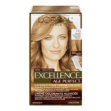 Amazon.com : L\'Oréal Paris Age Perfect Permanent Hair Color, 7G Dark ...
